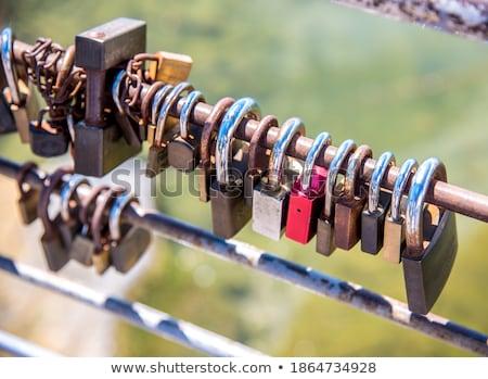 Símbolo amor azul óxido hierro seguridad Foto stock © manfredxy