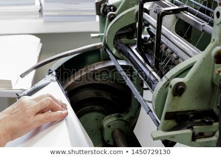 Senior printing press operator Stock photo © pressmaster