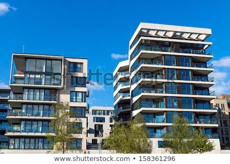 современных Гамбург Германия здании строительство синий Сток-фото © elxeneize