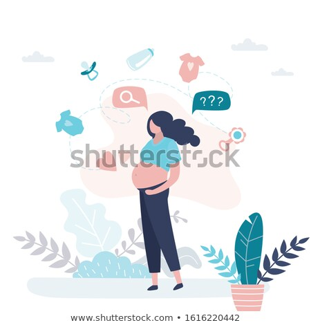 Before pregnancy and pregnant woman. Vector illustration Stock photo © Imaagio