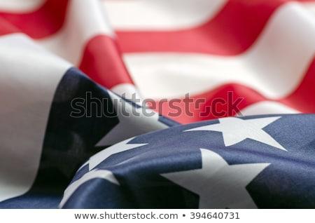 Bayrak Amerika Birleşik Devletleri Amerika uçan rüzgâr arka plan Stok fotoğraf © butenkow
