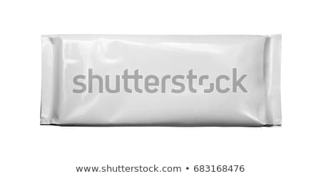 Modèle blanche emballage casse-croûte pur plastique Photo stock © butenkow