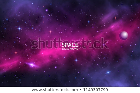 Realistic Mars planet on colorful deep space background with bright stars and constellations Stock photo © evgeny89