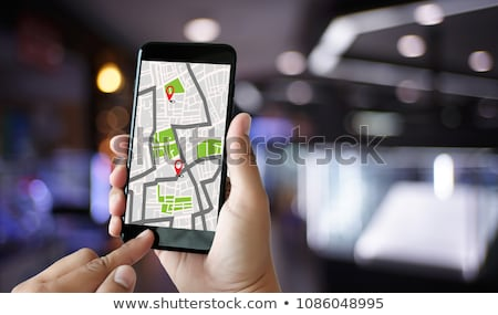 Searching Location Using Online GPS Map Stock photo © AndreyPopov