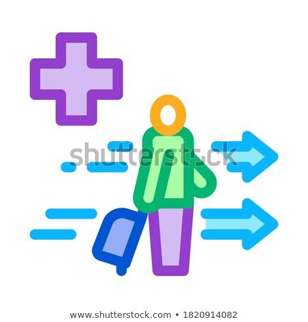 Medycznych wsparcie turystycznych walizkę ikona wektora Zdjęcia stock © pikepicture