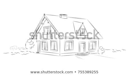 Dom wolnostojący streszczenie rodziny domu gospodarstwo domowe budynku Zdjęcia stock © RAStudio