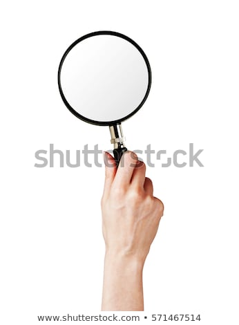 Woman with Magnifying Glass in Hands Isolated Stock photo © robuart