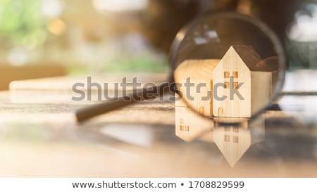 casa · lupa · palavras · casa - foto stock © kbuntu