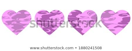 Amore romance rosso fluido cuore a forma di cuore Foto d'archivio © Arsgera