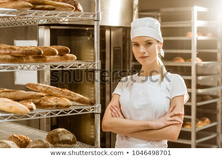 Young woman in bakery Stock photo © Paha_L