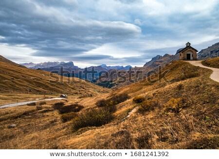 chapel in Pordoi pass Stock photo © Antonio-S