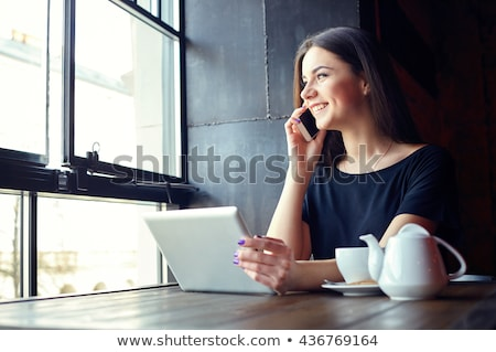 красивой · деловой · женщины · кофе · работу - Сток-фото © darrinhenry