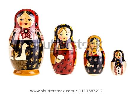 küçük · hatıra · oyuncak · bebekler · yalıtılmış · beyaz - stok fotoğraf © Borissos