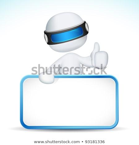 3D 拡張性のある 男 プラカード 実例 3次元の男 ストックフォト © vectomart