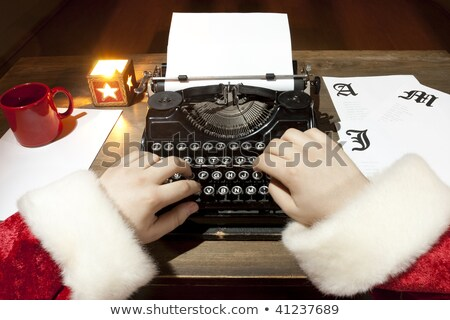 letter to santa on typewriter stock photo © ivelin