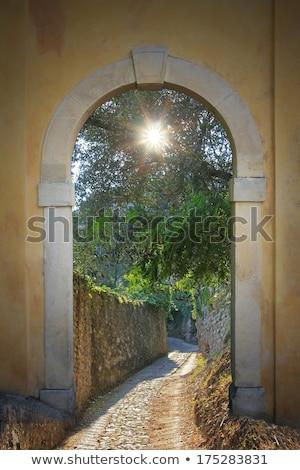 Pasaje muro de piedra pared paisaje aire libre rural Foto stock © gewoldi