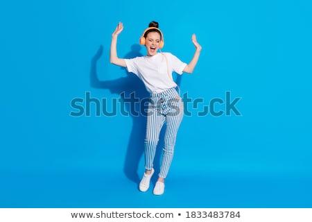 Girl in blue Stock photo © ivonnewierink
