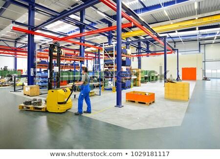 raktár · munkás · építkezési · anyagok · targonca · építkezés · munka - stock fotó © hasenonkel