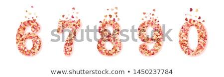 cuori · confetti · vettore · san · valentino · nero · fiore - foto d'archivio © beholdereye