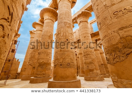 columns at karnak temple and the obelisk stock photo © frank11