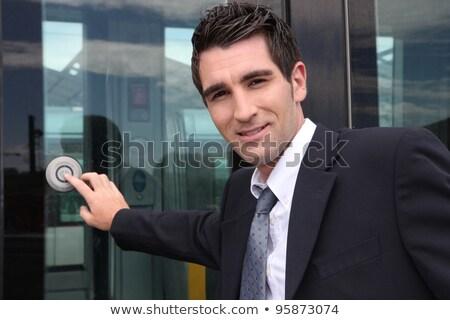 Hombre tranvía trabajo jóvenes empate profesional Foto stock © photography33
