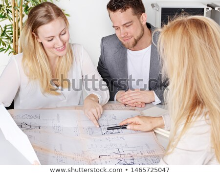 family having a meeting with their architect stock photo © photography33