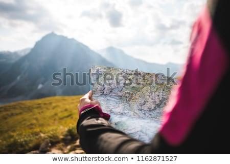 Mulher orientação natureza fitness montanhas exercer Foto stock © photography33