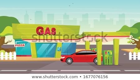заполнение насос декораций классический автозаправочная станция энергии Сток-фото © prill
