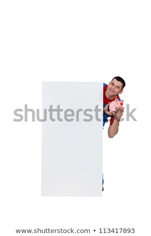 Artisan holding moneybox Stock photo © photography33