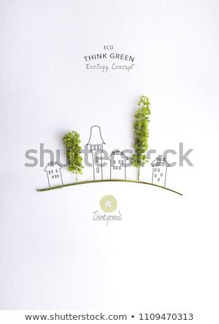 Yeşil kelime sözler enerji çevre strateji Stok fotoğraf © RomanenkoAlex