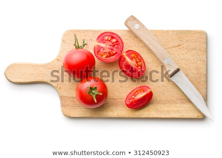 Red tomato slices on chopping board Stock photo © vlad_star