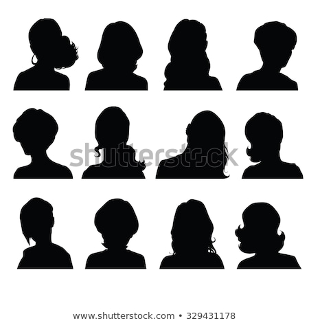women's silhouettes with different hairstyles Stock photo © experimental