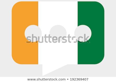 Берег · Слоновой · Кости · флаг · карта · стране · форма - Сток-фото © perysty