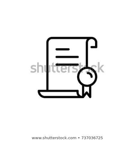Folha rolar certidão laranja cordão papel Foto stock © experimental