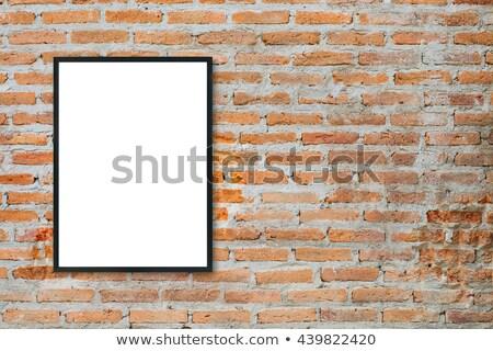 blank sign at a brick wall Stock photo © experimental