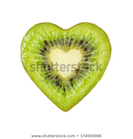 Kiwi fruits isolé blanche amour fraîches Photo stock © ozaiachin