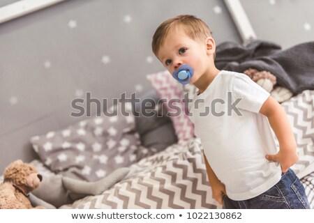 çocuk emzik el gülümseme göz yüz Stok fotoğraf © photography33