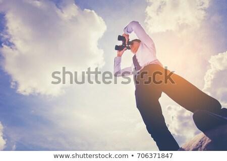 бизнесмен · глядя · расстояние · бизнеса · улыбка · глаза - Сток-фото © photography33