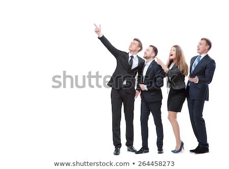 驚いた · ビジネスマン · ポインティング · ビジネス · 女性 · 笑顔 - ストックフォト © wavebreak_media
