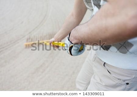 песок ловушка грабли гольф объект линия Сток-фото © latent