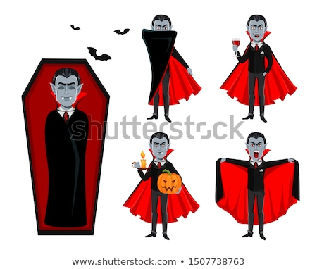 Vampiro sexy girl preto couro casaco fora Foto stock © carlodapino