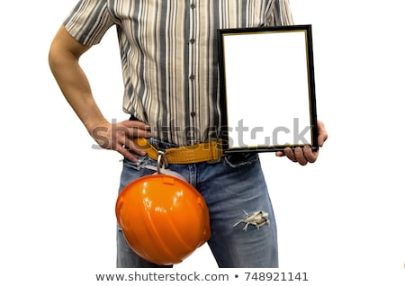 Builder holding trophy Stock photo © photography33