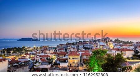 Grécia férias de verão casa verão viajar navio Foto stock © goce