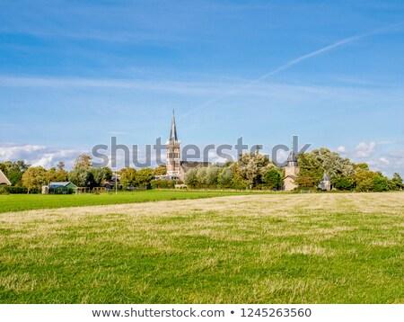 Church tower in Holland Stock photo © ivonnewierink