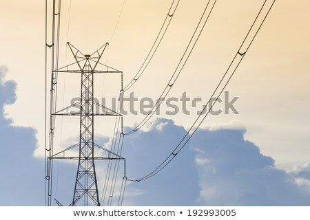 Electicity transmission tower and cables Stock photo © kawing921