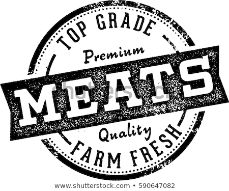 top grade beef steak stamp stock photo © squarelogo