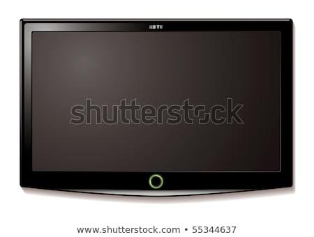 Moderne breedbeeld lcd tv monitor geïsoleerd Stockfoto © shutswis