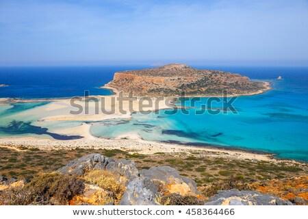 balos beach on crete island stock photo © elxeneize