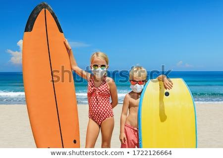 plaj · yaşam · tarzı · adam · sörfçü · sörf · çalışma - stok fotoğraf © maridav