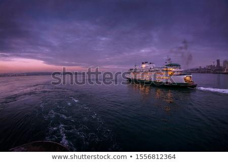 pont · boot · passagiers · oceaan · kaal · hoofd - stockfoto © trgowanlock